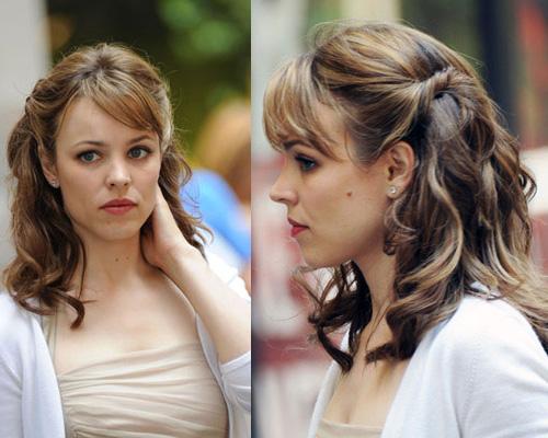 Rachel mcadams bangs pulled back